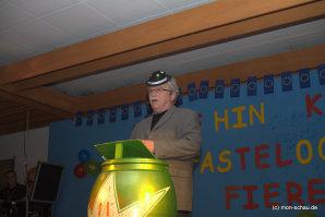 Foto der Büttenrede auf der Monschauer Gemeinschaftssitzung