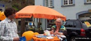 Foto vom Monschauer Infostand der Piraten im Landtagswahlkampf